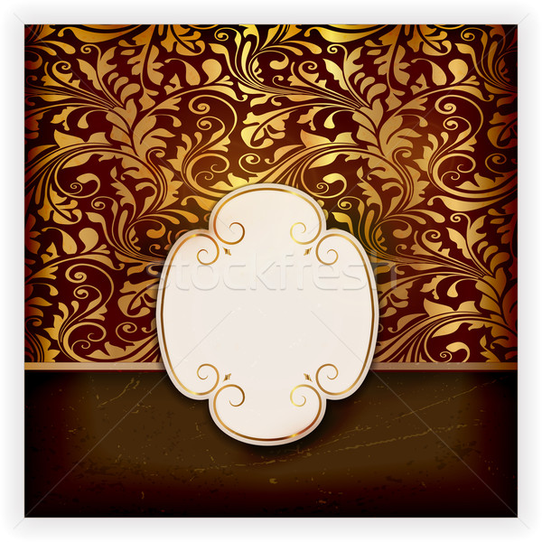Floral invitation card with label  Stock photo © wenani