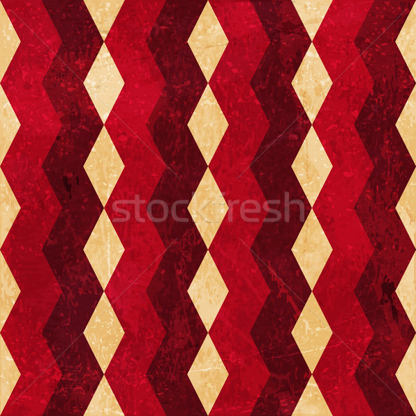 Red beige rhombus grunge background Stock photo © wenani