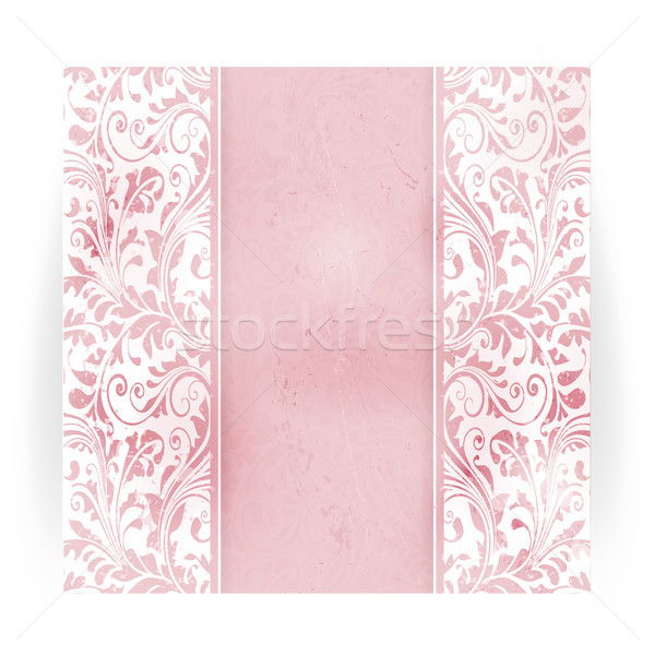 Floral distressed invitation card Stock photo © wenani