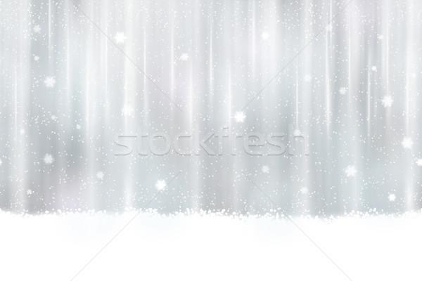 Gümüş kar taneleri soyut dizayn kar yağışı Stok fotoğraf © wenani