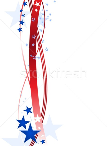 Blue and red stars and stripes