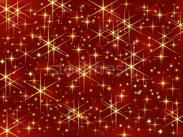 Magie sterren christmas donkere Rood Stockfoto © wenani