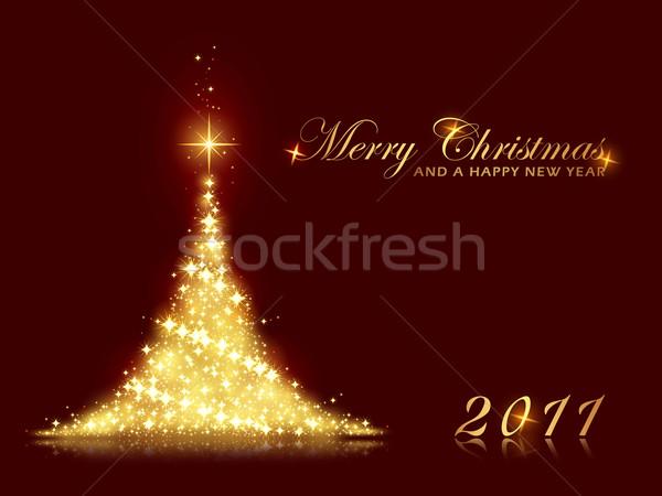 Arbre de noël joyeux Noël happy new year Photo stock © wenani