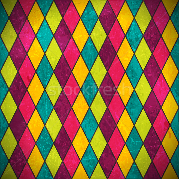 Colorful rhombus grunge background Stock photo © wenani