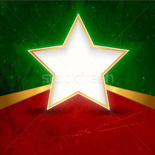 Star banner lint Rood groene Stockfoto © wenani