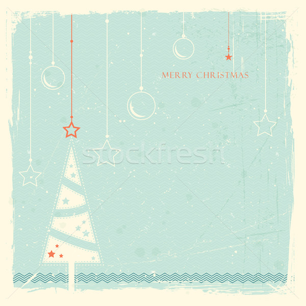 Grunge background with Christmas tree Stock photo © wenani
