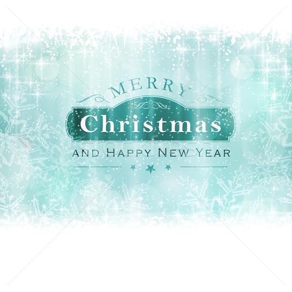 веселый Рождества Label световыми эффектами Сток-фото © wenani