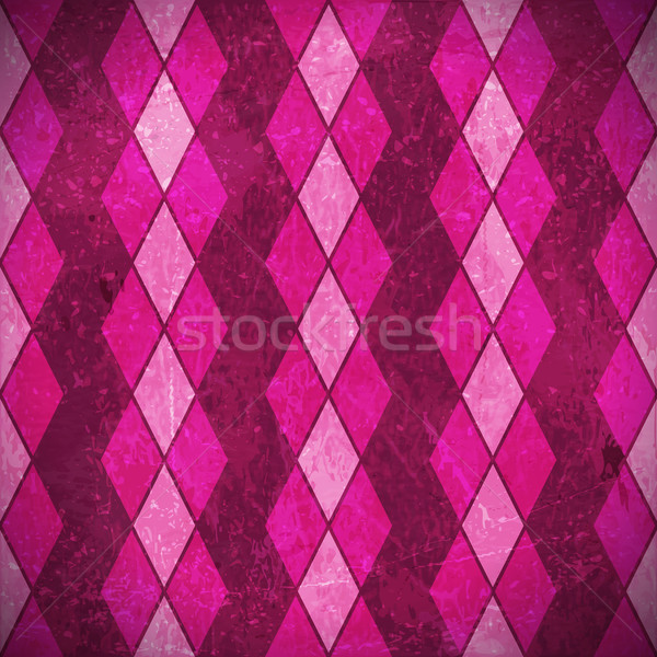 Pink purple rhombus grunge background Stock photo © wenani