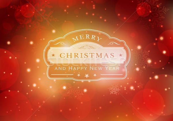 Red Merry Christmas typography background Stock photo © wenani