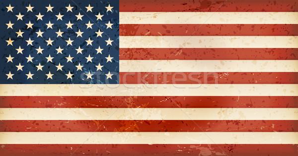 USA vlag grunge communie vintage stijl Stockfoto © wenani
