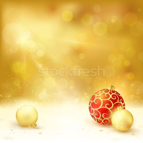 クリスマス デザイン 赤 ライト効果 ストックフォト © wenani