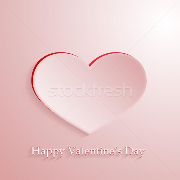 Roze vector liefde hart romantische schaduw Stockfoto © wenani