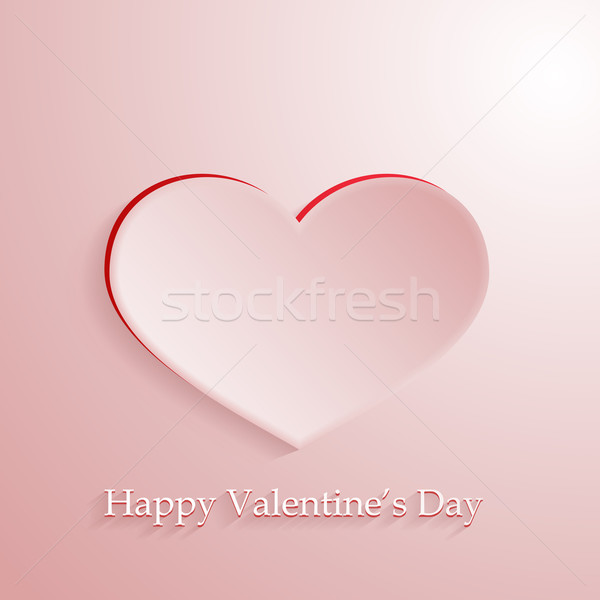 Rosa vetor amor coração romântico sombra Foto stock © wenani