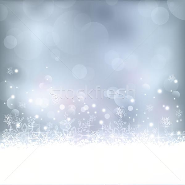 Blauw christmas winter winters abstract uit Stockfoto © wenani