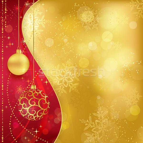 Rouge or Noël traditionnel suspendu Photo stock © wenani