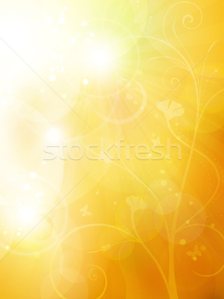 Soft golden, sunny summer or autumn bokeh background Stock photo © wenani