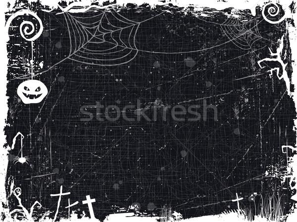 Halloween quadro assustador árvore Foto stock © wenani