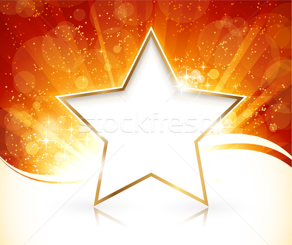 Festive Christmas design with gold rimmed star Stock photo © wenani