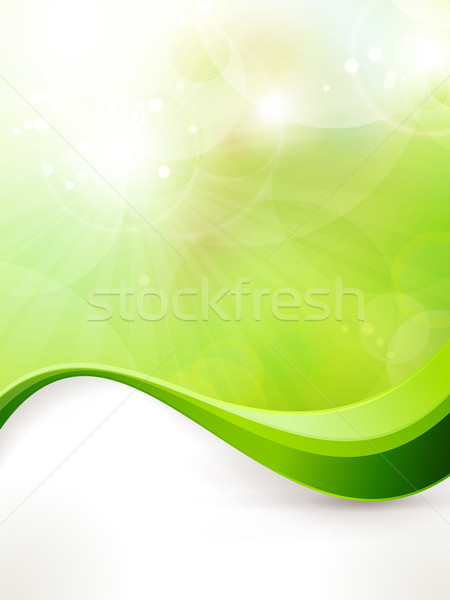 Abstract green vector background with wave pattern Stock photo © wenani