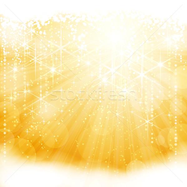 Abstract gouden licht sterren Stockfoto © wenani