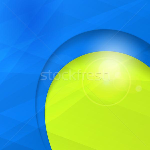 Abstract Blauw groene business ontwerpsjabloon exemplaar ruimte Stockfoto © wenani