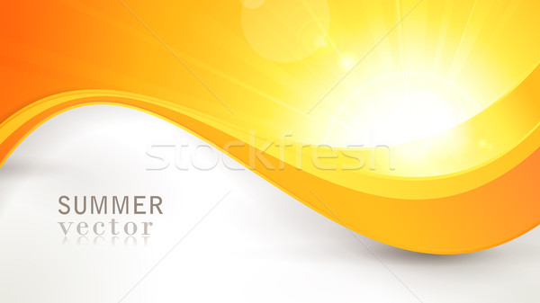 Vector summer sun with wavy pattern and lens flare Stock photo © wenani