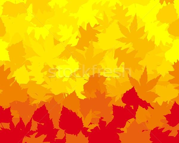Vecteur wallpaper érable chêne Photo stock © wenani