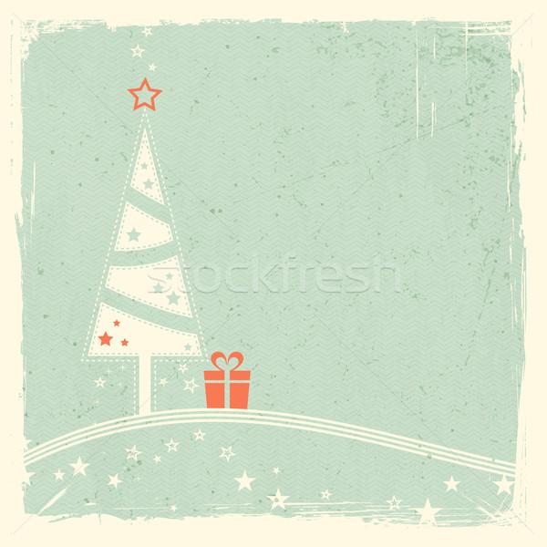 рождественская елка настоящее звезды иллюстрация стилизованный Top Сток-фото © wenani