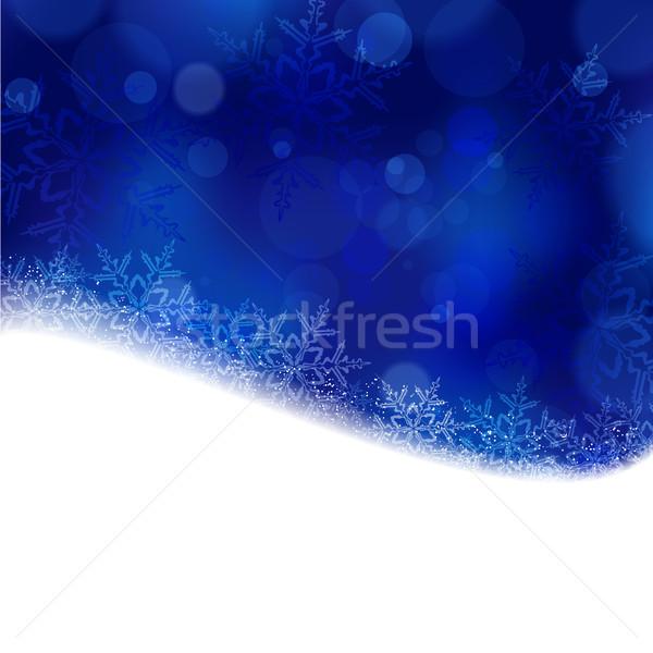 синий Рождества зима фары Сток-фото © wenani