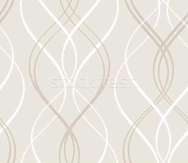 Abstract naadloos geometrisch patroon golvend lijnen Stockfoto © wenani