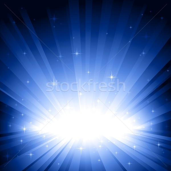 Blue light burst with stars Stock photo © wenani