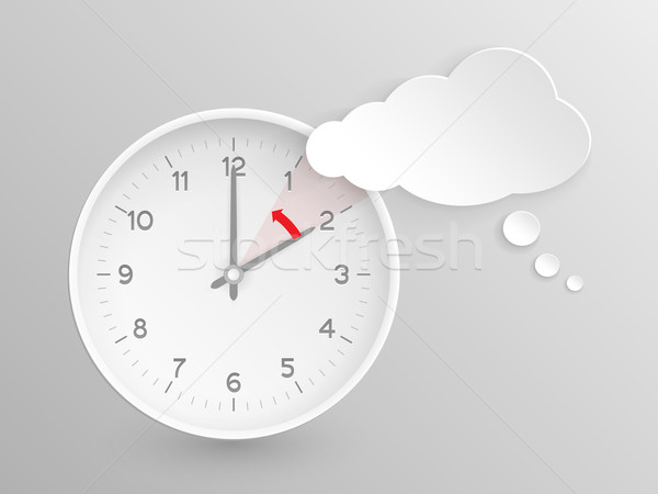 Vector clock, do not forget to fall back Stock photo © wenani