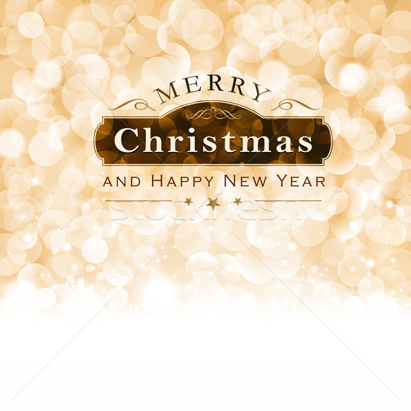 Merry Christmas typography with blinking lights Stock photo © wenani