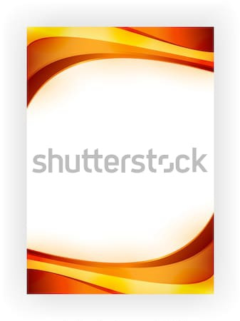 Business template with wave pattern Stock photo © wenani