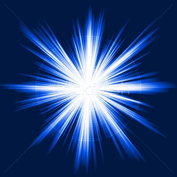 Niebieski świetle star wybuch streszczenie Zdjęcia stock © wenani