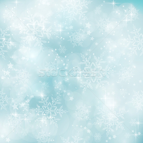 Zachte pastel Blauw winter kerst patroon Stockfoto © wenani