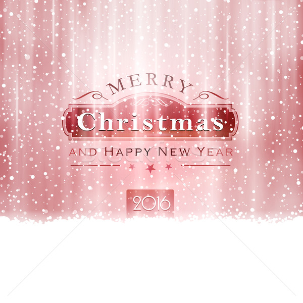 Silver red Merry Christmas Typography Stock photo © wenani