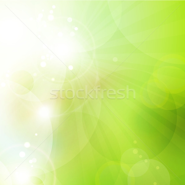 Abstract green bokeh background with lights Stock photo © wenani