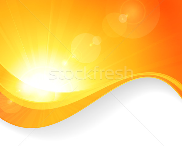 Sun background with wavy pattern Stock photo © wenani