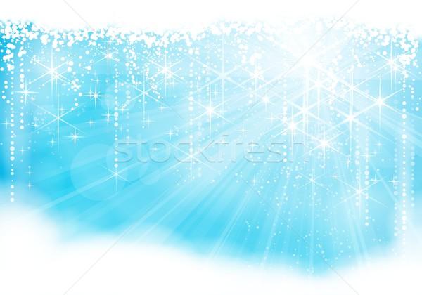 Bleu clair Noël hiver eps10 Photo stock © wenani