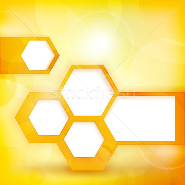 Abstract gouden tekstballon licht Geel oranje Stockfoto © wenani