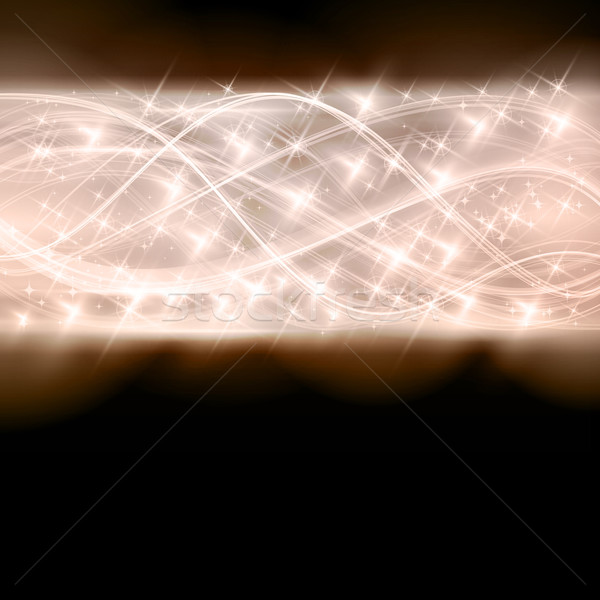 Abstract shiny star border Stock photo © wenani