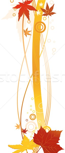 Autum border, vector background Stock photo © wenani