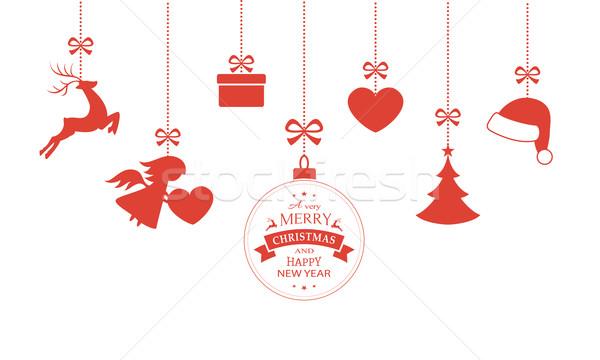 セット 絞首刑 クリスマス 安物の宝石 ストックフォト © wenani