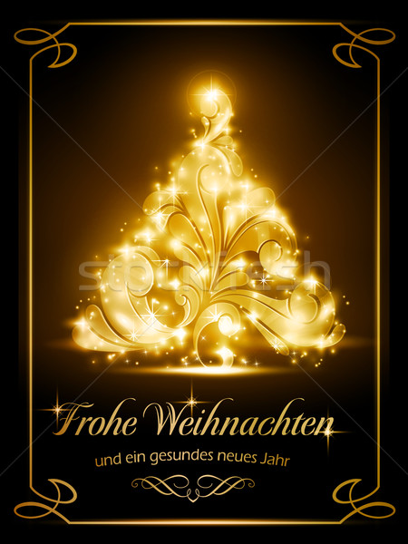 Christmas card, Weihnachtskarte Stock photo © wenani