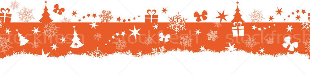 Sin costura invierno Navidad frontera monocromo diseno Foto stock © wenani