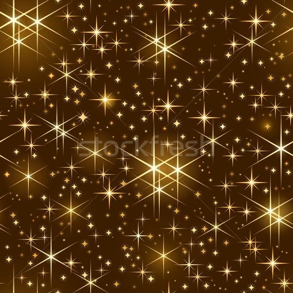Végtelenített csillagos ég karácsony csillog zsindelyezés minta Stock fotó © wenani