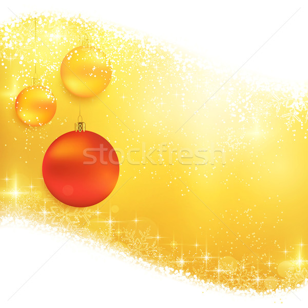 Gouden christmas opknoping ornamenten Stockfoto © wenani