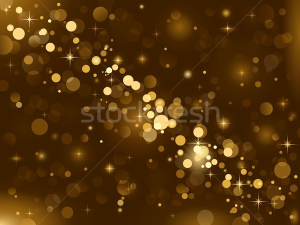 Stock photo: Magic lights, background sparkle, blurred vector light