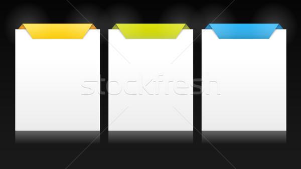 Zestaw pionowy wektora karty wielokrotność opcje Zdjęcia stock © wenani